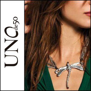 NWOT ( UNOde50 ) Dragon Fly Statement Necklace